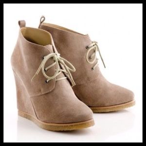 Shoemint Shoes - Sheomint Jolly Taupe Suede Wedges